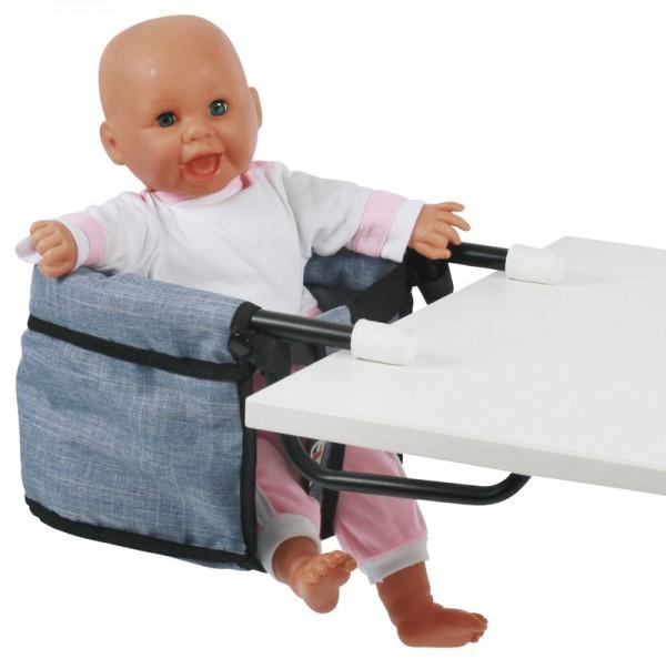Puppen-Tischsitz (Jeans Blue)