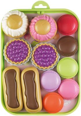 Tablett mit bunten Süßwaren