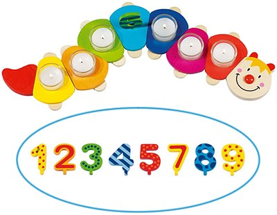 Geburtstagsraupe Camila mit Zahlen