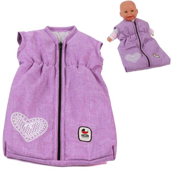 Puppenschlafsack (Melange Flieder)