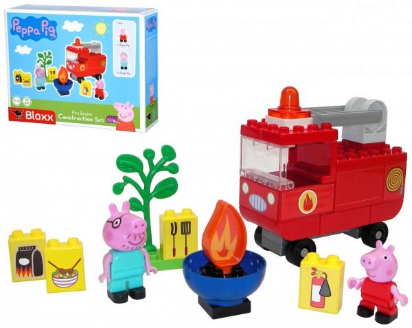 PlayBIG Bloxx Peppa Pig Feuerwehrauto mit Figuren