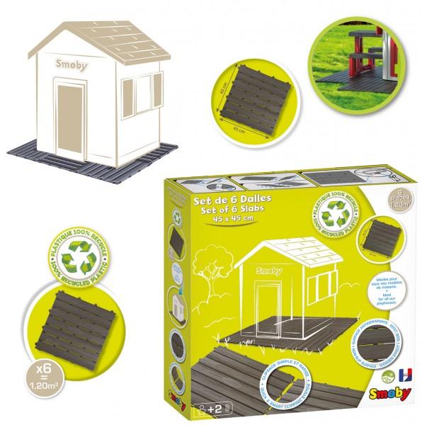 Bodenplatten-Set mit Klicksystem 6 Stück für Spielhäuser