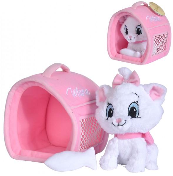Disney Aristocats Katze Marie mit Transportkorb 20 cm (Weiß)