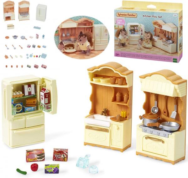 Sylvanian Families Landhaus Küche mit Kühlschrank