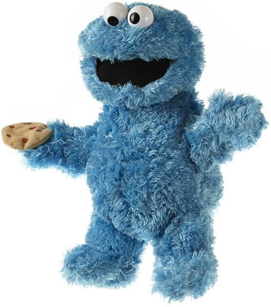 Sesamstrasse Plüschfigur & Handpuppe Krümelmonster 35 cm (Blau)