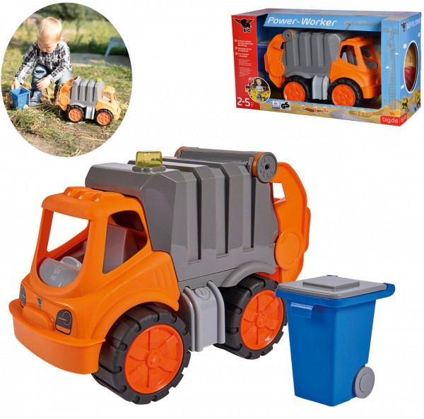 Power-Worker Müllwagen mit Tonne
