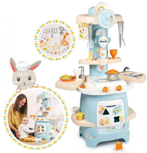 Kleinkind Spielküche Ptitoo mit vielen Funktionen (Pastell)