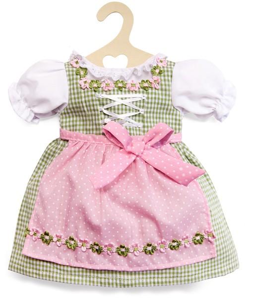Kleidungsset Dirndl Kleid 35 - 45 cm (Rosa-Grün)