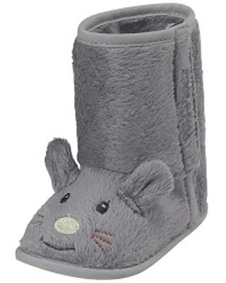 Babyschuhe Maus gefüttert Gr. 16/17 (Grau)