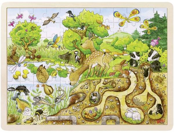 Holzpuzzle Erlebnis Natur (96 teilig)