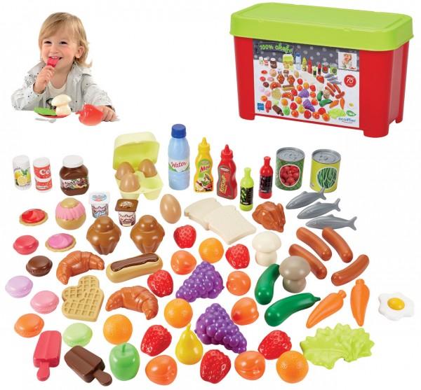 Große Box mit Spiellebensmittel 75-teilig
