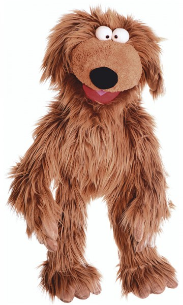 Living Puppets Große Handpuppe Hund Wiwaldi 66 cm