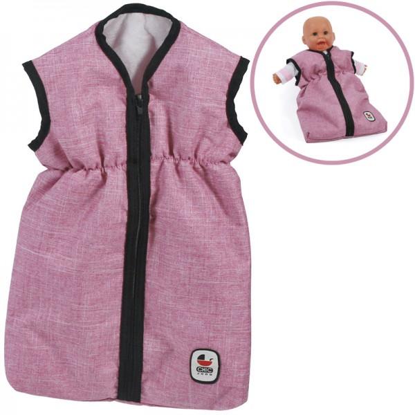 Puppenschlafsack (Jeans Pink)