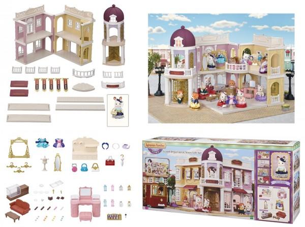 Sylvanian Families Town Series Einkaufszentrum Wunschbrunnen mit Zubehör