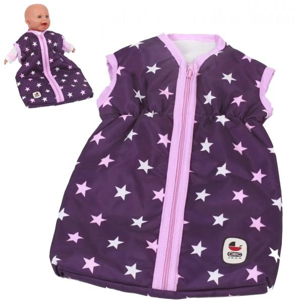 Puppenschlafsack (Stars Lila)