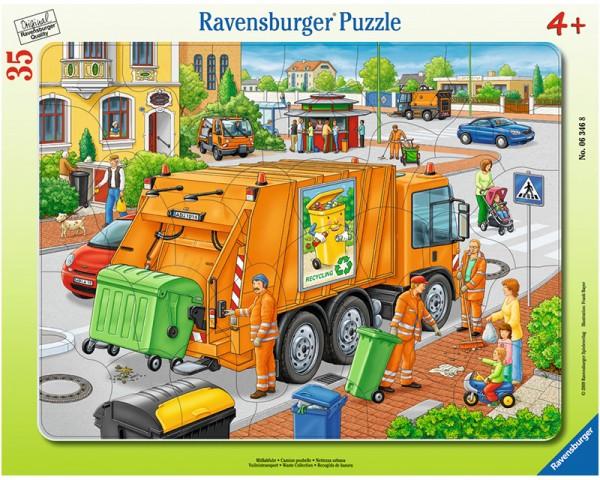 Rahmenpuzzle Müllabfuhr mit 35 Teilen