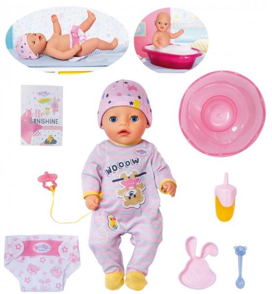 Baby Born Little Girl Puppe 36 cm (Rosa-Grau)