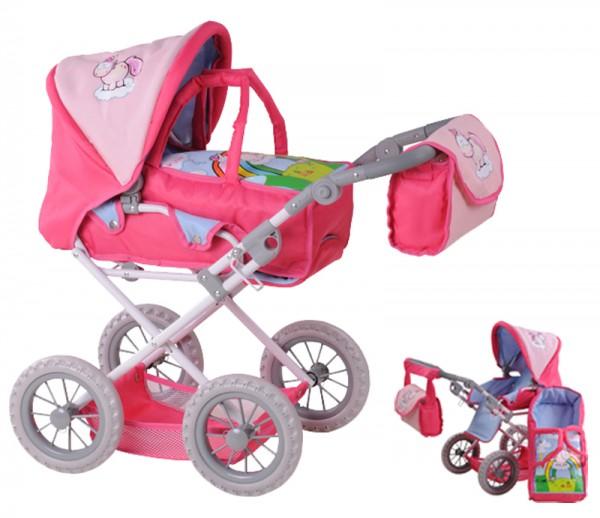 Puppenwagen Ruby Einhorn Nici Theodor & Friends (Rosa)