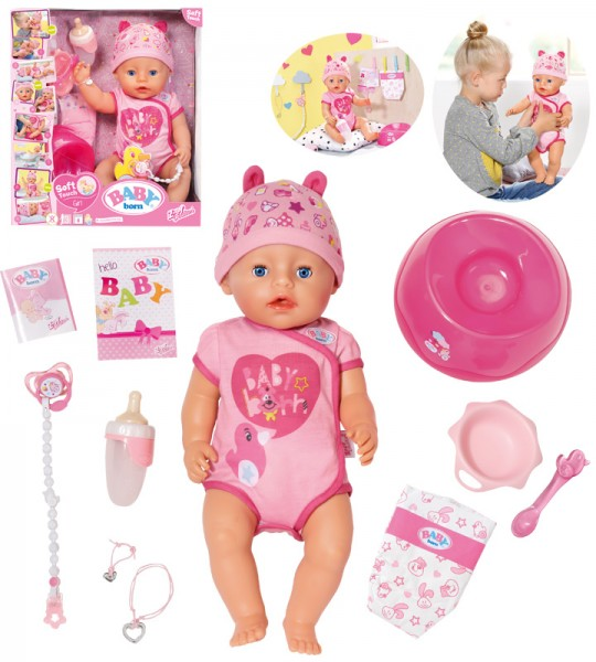 Baby Born Soft Touch Girl Puppe 43 cm (Pink)