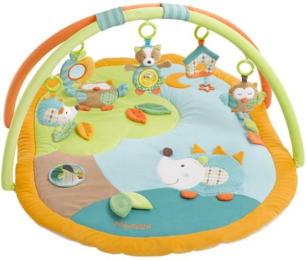 Sleeping Forest 3-D Activity Spieldecke Igel und Eule (Orange-Grün)