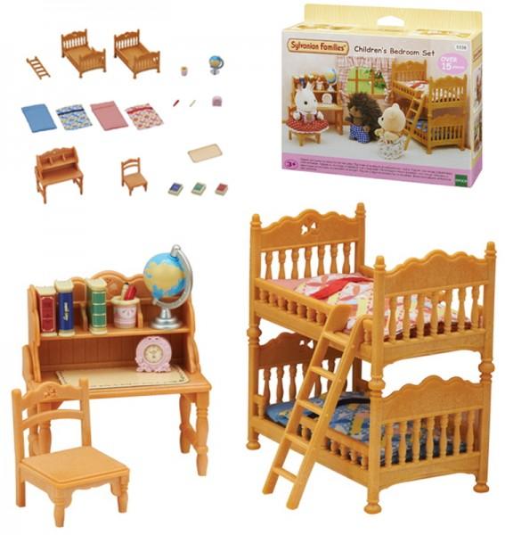 Sylvanian Families Landhaus Kinderzimmer mit Stockbett