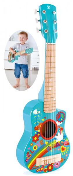 Kindergitarre aus Holz Gitalele Flower Power