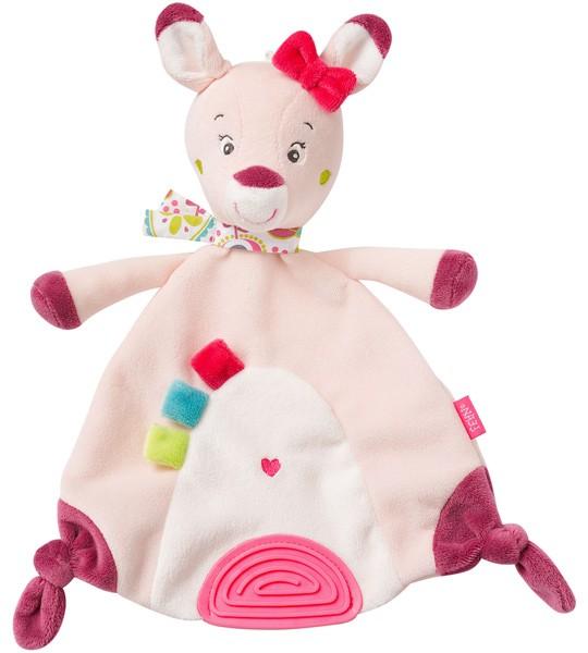 Sweetheart Schmusetuch mit Softbeisser Rehkitz (Rosa)