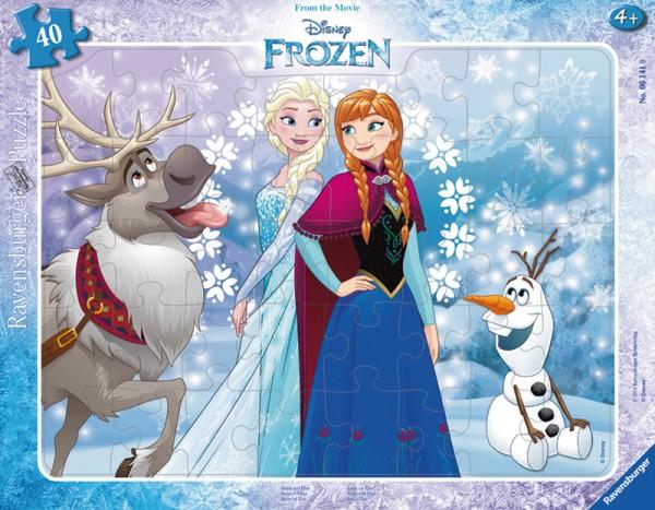Rahmenpuzzle Frozen Anna und Elsa mit 40 Teilen