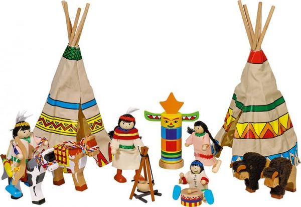 Indianerlager mit Biegepuppen