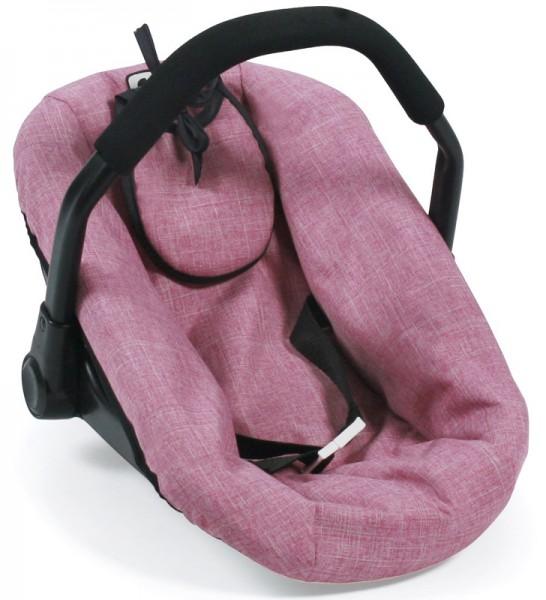 Puppenautositz mit Lätzchen (Jeans Pink)