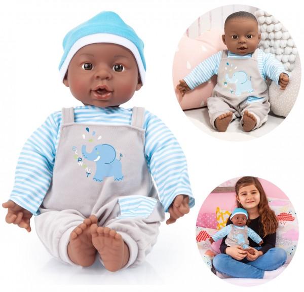 Babypuppe Interactive Baby Boy 40 cm (Dunkelhäutig)