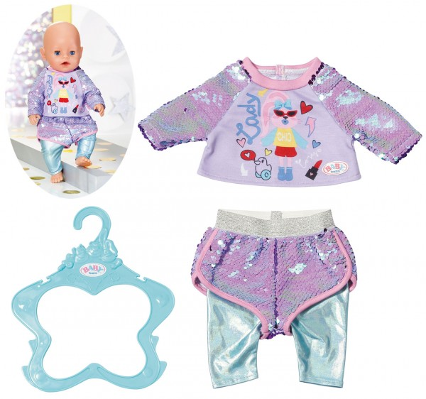 Baby Born Fashion Outfit 43 cm (Lila-Mint)