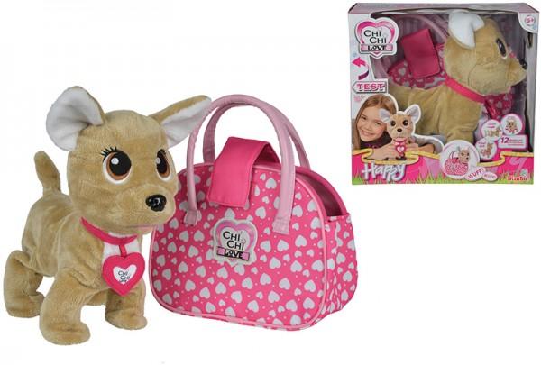 Chi Chi Love Happy Chihuahua Plüschhund mit Tasche (Pink)