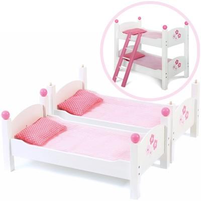 Puppenetagenbett Fiori (Weiß-Rosa)
