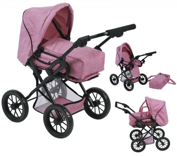 Puppenwagen Leni (Jeans Pink)
