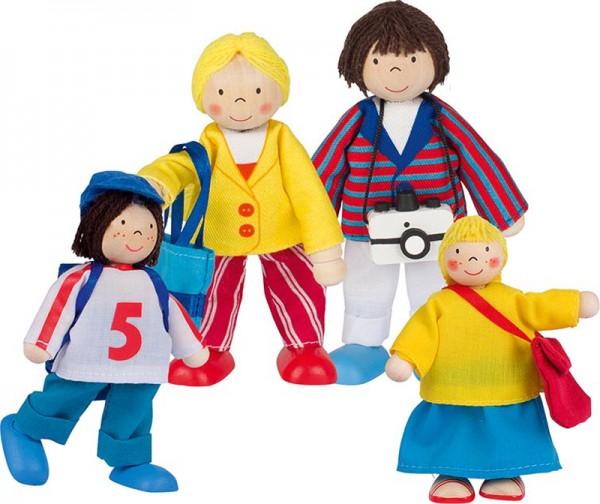 Puppenhaus-Puppen Urlauber-Familie