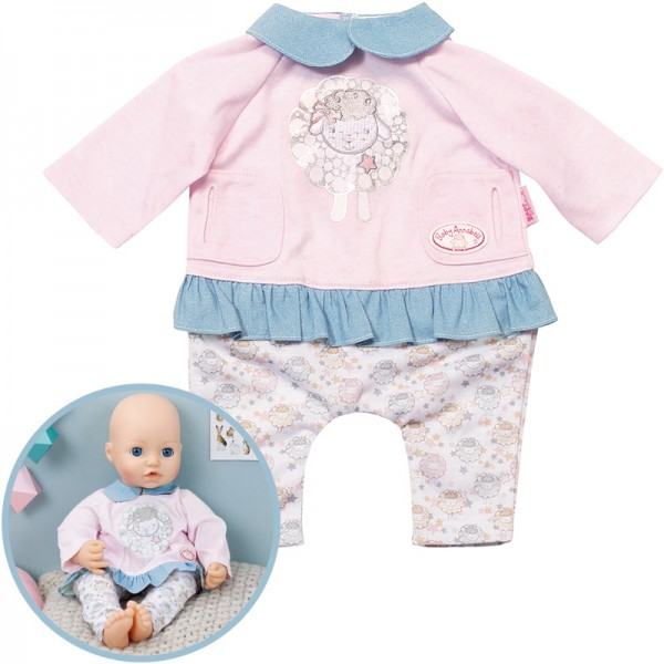 Baby Annabell Tag Outfit (Rosa-Blau)