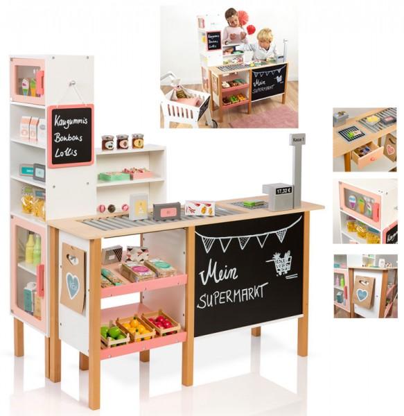 Kaufmannsladen Supermarkt Alnus (Weiß-Apricot)