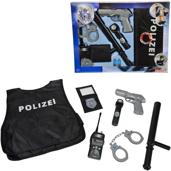 Polizei Einsatz-Set mit Schutzweste