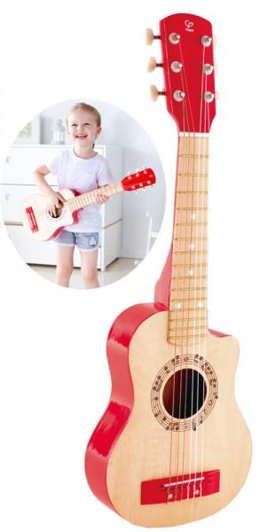 Kindergitarre aus Holz Gitalele Rote Flamme