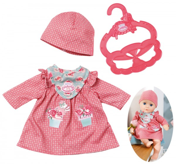 My First Baby Annabell Kuschel Outfit Kleid 30 - 36 cm (Altrosa)