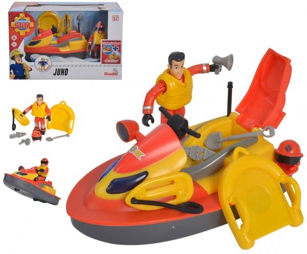 Feuerwehrmann Sam Juno Jet-Ski mit Figur und Zubehör