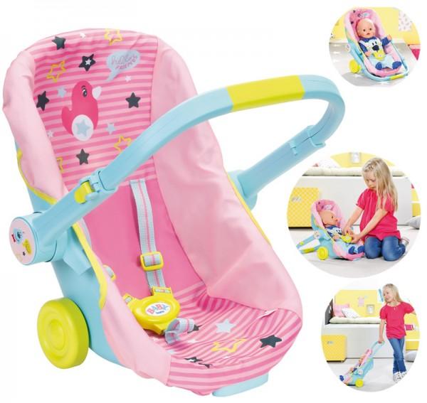 Baby Born Schalensitz mit Rädern 3in1 (Rosa)