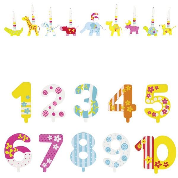 Geburtstagstierparade Susibelle mit Zahlen