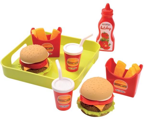 Hamburger Set mit Tablett