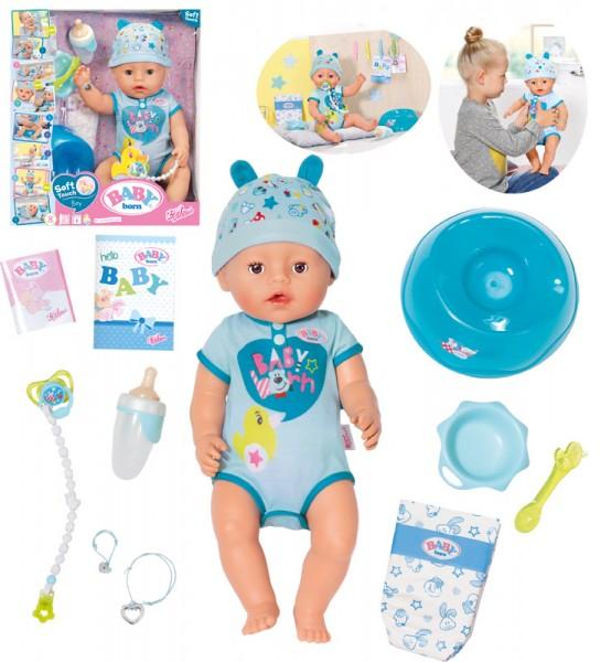 Baby Born Soft Touch Boy Puppe 43 cm (Blau)