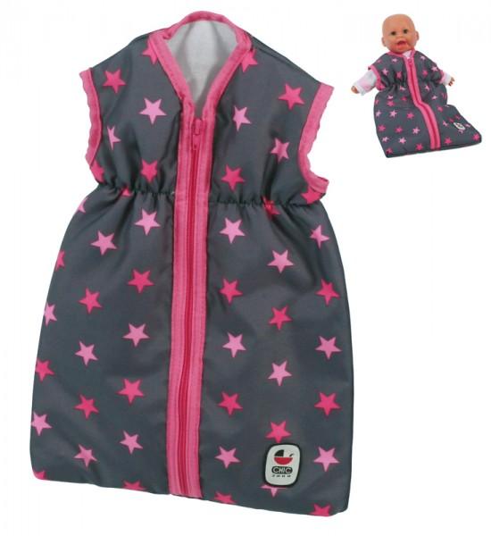 Puppenschlafsack (Sternchen Pink)