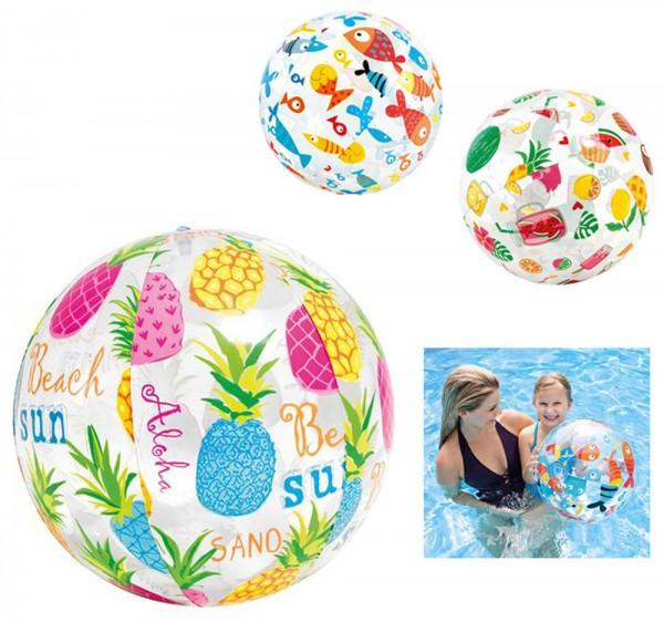 Wasserball 40 cm Sommer Love (Sortiert)
