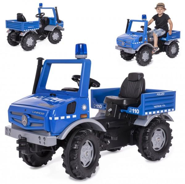 RollyUnimog Mercedes Unimog Polizei mit Blinklicht (Blau)