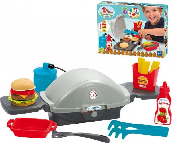 Barbeque Gas-Tischgrill mit Zubehör für Kinder Burger-Time (Grau-Schwarz)